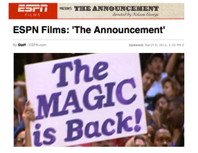 Imagen: Documental 'The Announcement'